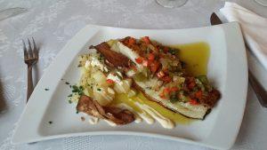 Bacalao al horno en Restaurante La Cantina de J. Mingo
